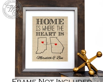 home is where the heart is goodbye gifs custom states print long distance gift deployment gift moving away gift going away gift states print