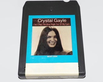Vintage 8 Track Tape, Crystal Gayle - I ve Cried The Blue Right Out Of My Eyes, 1978, Eight Track, Music