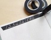Chalkboard Numerals Washi Tape