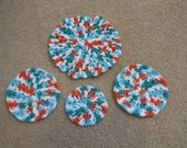 SALE - Crochet Doilies Set of 4