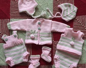 Preemie set pattern with bunnies 5lb