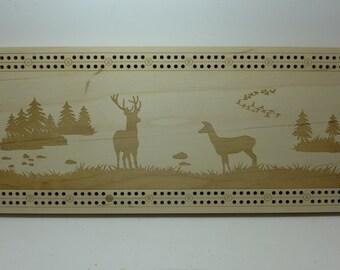 Custom Laser Etched Cribbage Board