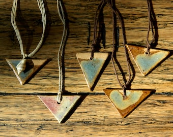 Ceramic Triangle Pendant