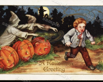 Halloween Post card  witches c1910 Postcard original card