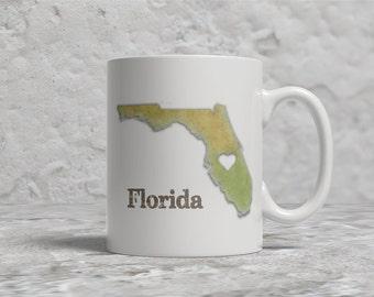 Florida Mug, Love Florida