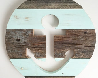 "16"" Anchor Wood Round"