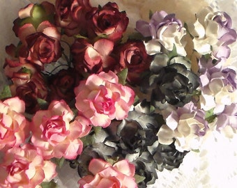 Paper Craft Flowers, 1 1/2 inch paper flowers,