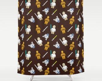 Star Wars Shower Curtain, Cute Shower Curtain, Kids Shower Curtain, Star  Wars Bathroom