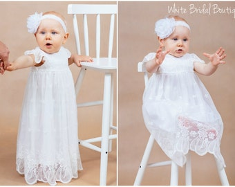 Baptism dress Baby girls dress Christening dress Blessing dress Christening lace dress Baptism lace dress Newborn dress Handmade in Europe