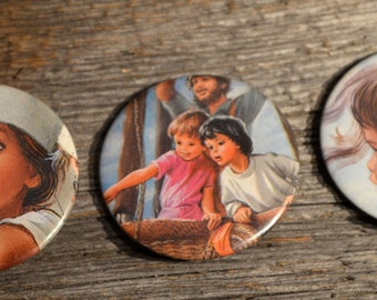 3 buttons MARTINE vintage