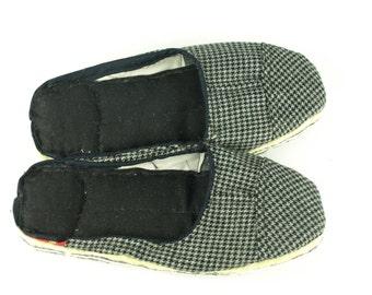 Tweed & Cotton Scrap Slippers Portuguese Chinelos de Trapos size EU 39-40