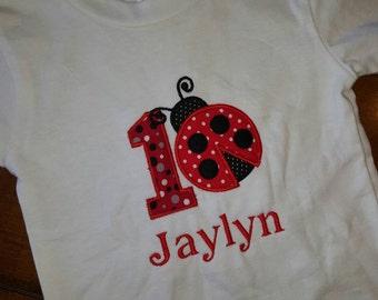 Lady bug 1st birthday shirt 12-18 month shirt