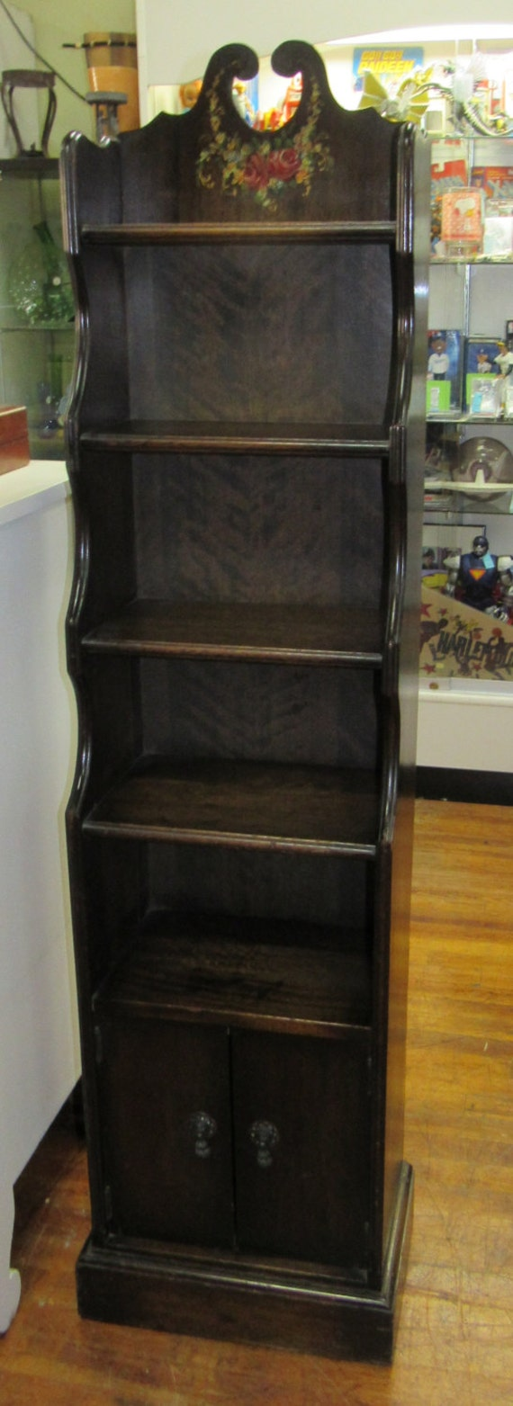 Book shelf or curio shelf tall & narrow