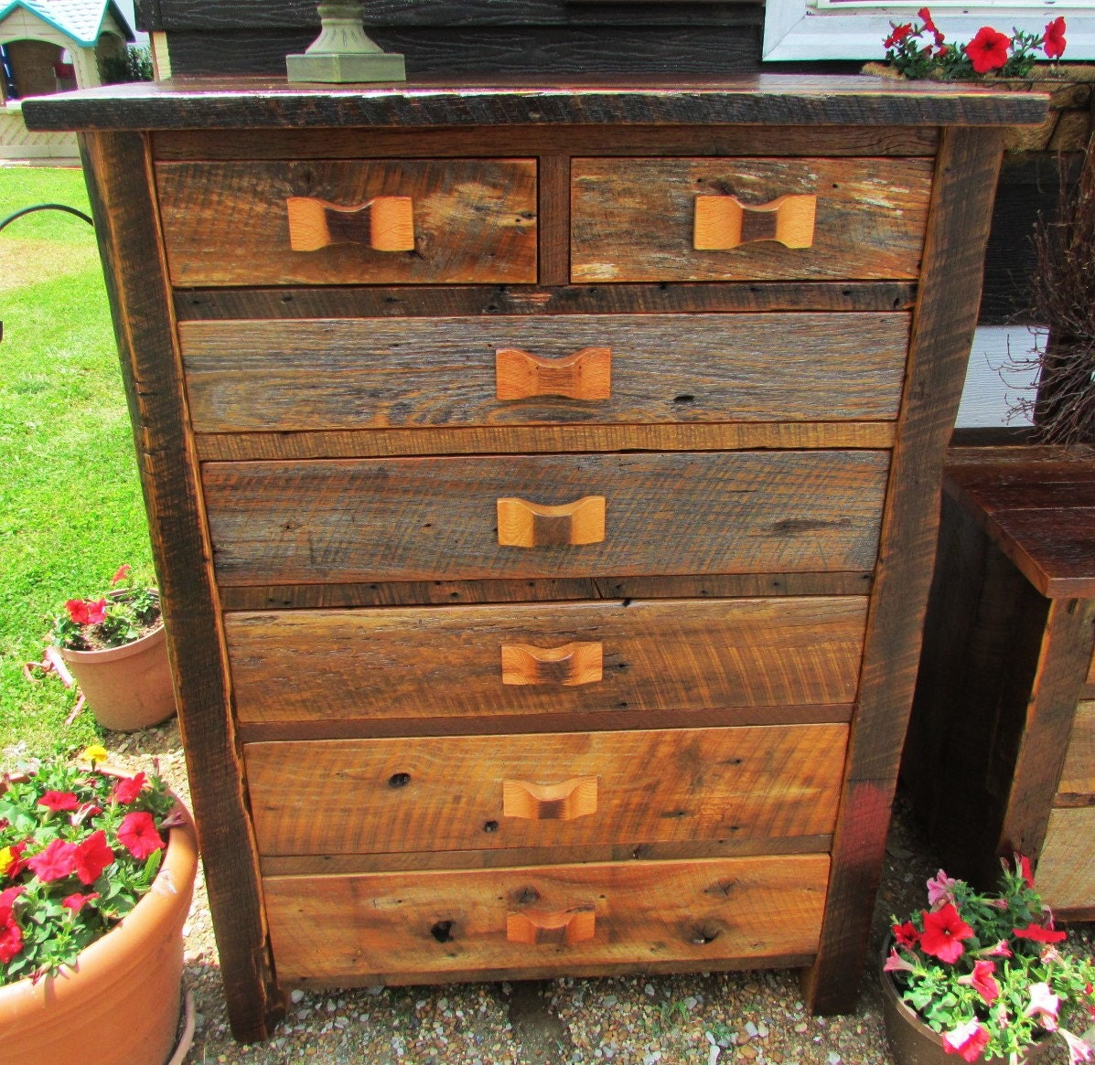 Amish made barn wood chest of drawers amish furniture amish Furniture made from barn wood
