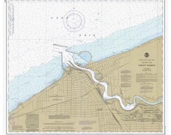 Lake Erie - 1981 - Lorain Harbor, Ohio - Nautical Map Reprint  - Great Lakes #3 - 357