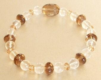 Bracelet Crystal smoky quartz