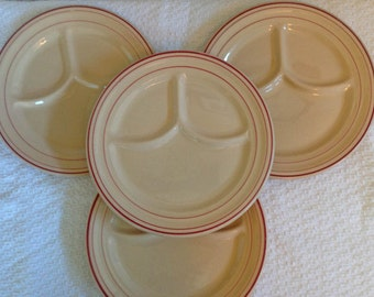 Wellsville SanTan Divided Plates - Set of 4