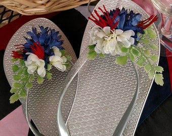 4th of July, Shoe Clips, Flower Shoe Clips, Bridal Shoe Clips, Wedding Shoe Clips, Gifts for Her, Sandal Clips, Flip Flop Clips,