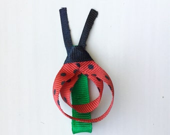 Ladybug ribbon sculpture bow
