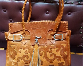 Awesome Burnet Orange  Bag.Made In Paraguay   13x1