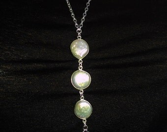 Sterling Silver plated Bohemian  Body Chain, Fresh water pearl body Jewelry, Wedding jewelry, Connected Necklace, Celebrity.