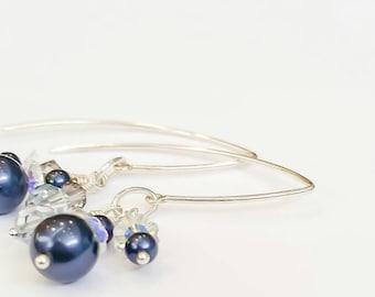 Swarovski Sparkling Blue Earrings