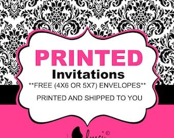 Printed Invitations