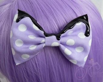 Lolita bow pastel-goth (lilac)