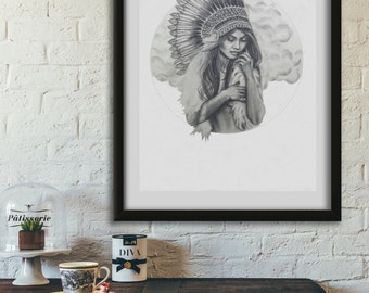 limited edition print Destiny warrior princess