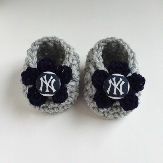 Yankees baby girl booties Yankees baby girl Yankees baby