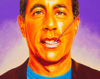 jErry - art prints of an original eightangrybears painting (Jerry Seinfeld)