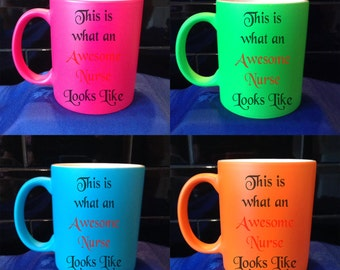 Personalised / Designed Neon Mug - Available in 4 Colours - Adult Humour - Style 70
