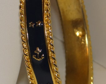 Bracelet Enamel Golden Nautical Theme