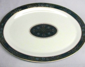 Royal Doulton China CARLYLE Pattern Large Oval Serving Platter - 16-3/8 x 12 3/8