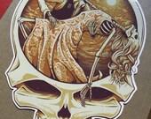 One Last Dance - Fare Thee Well Grateful Dead     Die-cut Vinyl Sticker