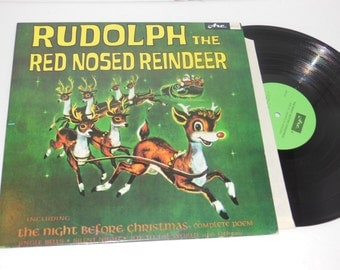 """Rudolph the Red Nosed Reindeer Arc ACS-31 12"""" Vinyl Christmas Record LP"""