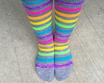 Self Striping Sock Yarn Electric Eleven