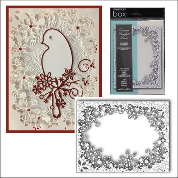 Memory Box Cutting Dies Dancing Snowflake Frame 99281 Metal