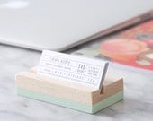Wood Business Card Holder | Choose your color | Hand Painted | Desk Accessory | Office Supplies