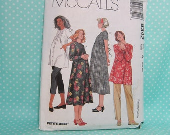 Maternity Pattern. McCall's 8342. Dress, Top, Pants & Capri. Size:6,8,10. Factory Folded. Cheapest Shipping.