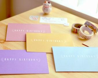 Happy Birthday Card Simple (SET OF 4)