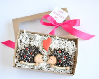 Hedgehogs cookie gift box