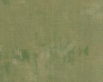 1/2 Yard - Mon Ami Grunge Vert Green Fabric by Basic Grey - 30150 274