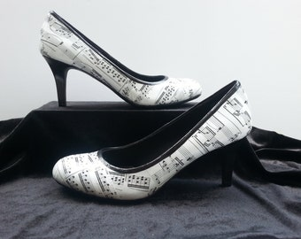 Music Heels Music Shoes Musician Heels Musician Shoes Musician Gift Classical Music Band Director Orchestra Sheet Music Piano Teacher