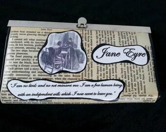 Jane Eyre Wallet Classic Literature Wallet Book Wallet Bibliophile Wallet Bronte Sisters Charlotte Bronte