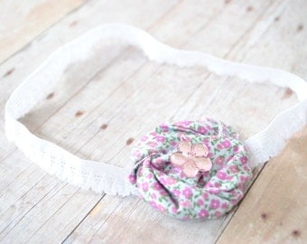 Rolled Rosette Headband