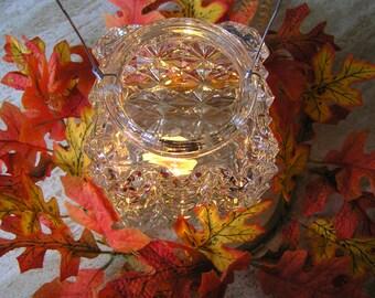 Vintage Porch Light / Lamp Shade Re-Purposed into a Candle Holder, Patio Decor, Garden Decor, Home Decor, Unique, OOAK, Wedding Decor
