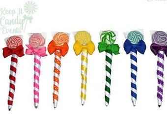 Custom Lollipop Pen, Lollipen, Edible Favor, Wedding, baby shower, birthday, party, favor, candy pen, edible pen, lollipop pen, customizable