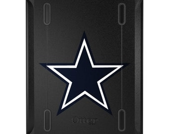 Custom OtterBox Defender for Apple iPad 2 3 4 / Air 1 2 / Mini 1 2 3 4 - CUSTOM Monogram - Dallas Star