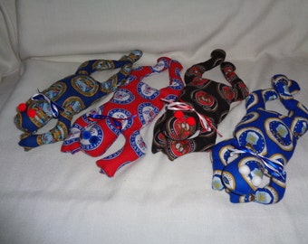 Hand Made Military Football Bean Bag Frog Army, Navy, Air Force and Marines